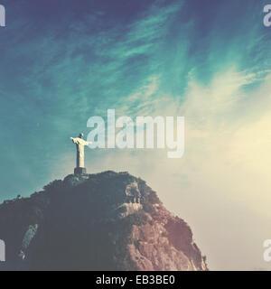 Christ the Redeemer, Rio de Janeiro, Brazil - Stock Photo