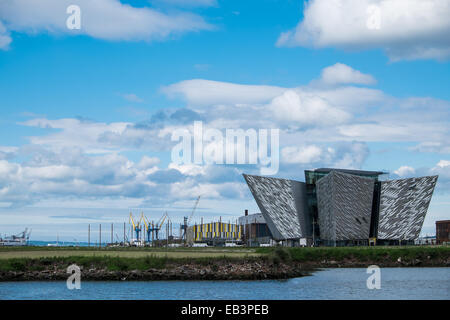 Titanic Museum in Belfast Northern Ireland - Stock Photo