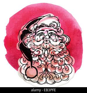 Santa Claus symbol. Merry Christmas icon vector - Stock Photo