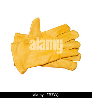 Protective gloves isolated on white with clipping path - Stock Photo