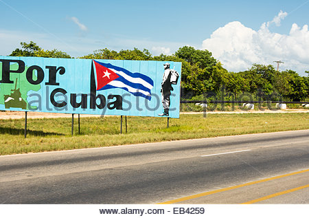 Diverse scenes of the Revolutionary period in Cuba specifically during the government of Raul Castro - Stock Photo