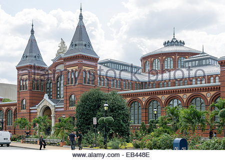 The Arts and Industries Building of the Smithsonian Institution opened in 1881 and sits on the National Mall in - Stock Photo