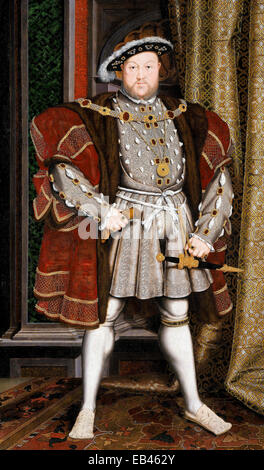 A portraiture of Henry VIII by the workshop of Hans Holbein the Younger 1497/1498 - Stock Photo