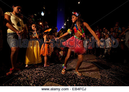 Brazilian People Teenage Girl Dancing Quinceanera Party