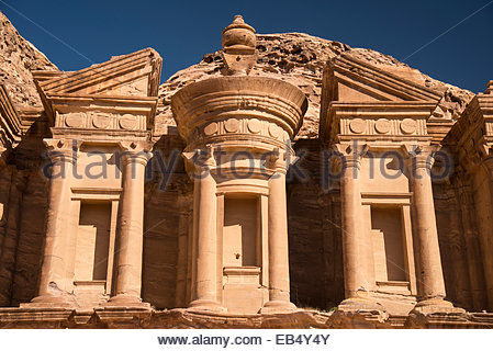 The Monastery, or al Deir, in Petra. - Stock Photo