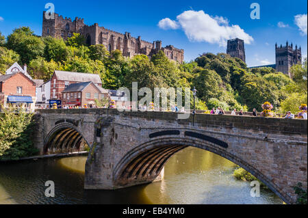 Built in1093 to house the shrine of St. Cuthbert , Durham Cathedral in Durham , England , Britain , Uk - Stock Photo