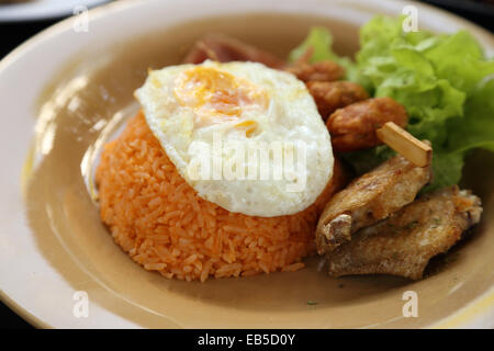 American style breakfast set, fried rice (Thai food) - Stock Photo