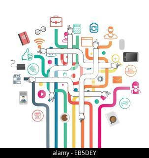 Business applications and icons vector - Stock Photo
