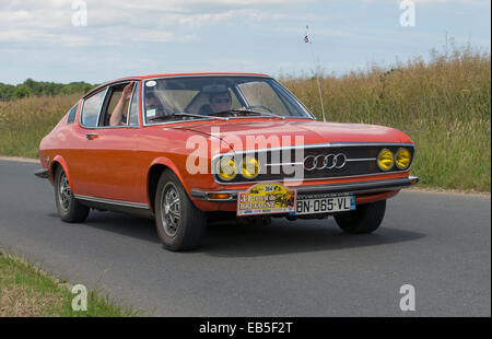 Audi 100S Coupe of 1973 in the Tour de Bretagne 2014, France - Stock Photo