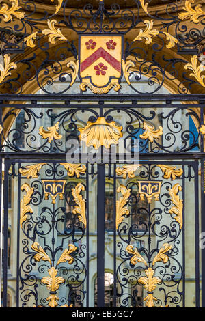 Gates to the north quad of All Souls College, Oxford University - Stock Photo
