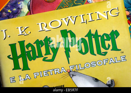 Harry Potter and the Philosopher's Stone - Italian edition - Stock Photo