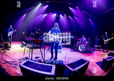 Milan Italy. 23th November 2014. The English singer/songwriter LUCY ROSE performs live at music club Alcatraz - Stock Photo