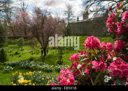 Sunken Garden by Bowhill House, Selkirk - Stock Photo