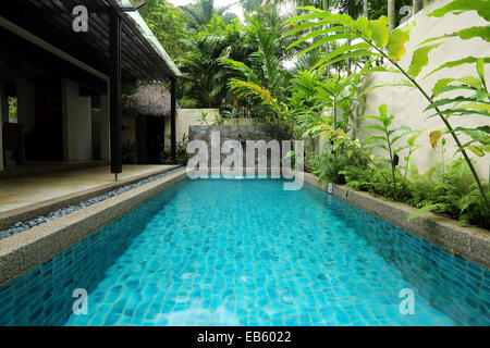 A private swimming pool at the banjaran hotspring retreat near ipoh stock photo royalty free for Private swimming pool malaysia