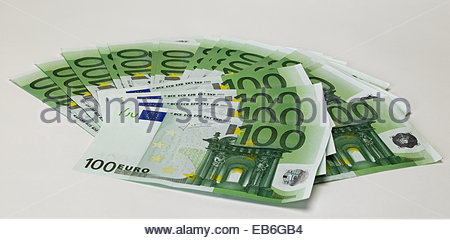 Fan of 100 Euro notes - Stock Photo