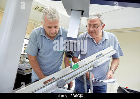 The SAT team calibrating three-dimensional machine. Calibration of CMM. Coordinate Measuring Machine. Innovative - Stock Photo