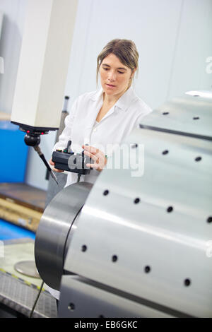 Technical measuring wind component in three-dimensional machine CMM Coordinate Measuring Machine Innovative Metrology - Stock Photo