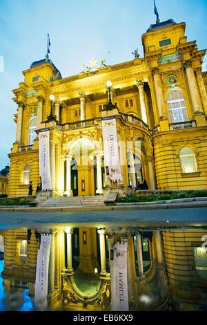 Croatian National Theatre in Marshall Tito Square  Zagreb, Croatia´. - Stock Photo