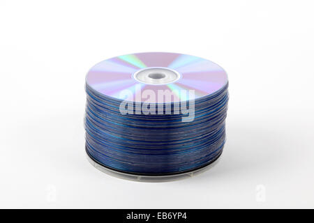A stack of recordable discs - Stock Photo