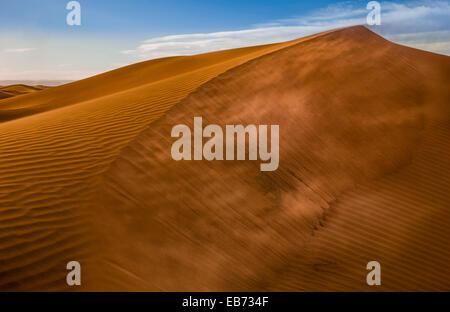 SAND DUNES ERG LIHOUDI M'HAMID EL GHISLANE MOROCCO - Stock Photo