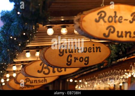 Christmas Market, Lueneburg, Lower Saxonia, Germany, Europe - Stock Photo