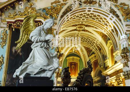 Capela do Senhor dos Passos da Casa dos Ossos (former chapter room), Church of St Francis, Evora, Alentejo, Portugal, - Stock Photo