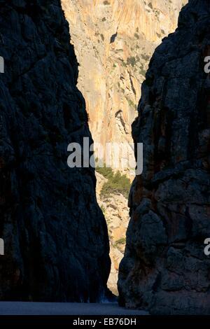 Torrent de Pareis Sa Calobra  Escorca Mallorca Illes Balears España - Stock Photo