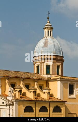 The Chiesa di San Rocco all Augusteo church in Rome, Italy - Stock Photo