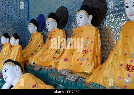The Shwedagon Pagoda officially titled Shwedagon Zedi Daw also known as the Great Dagon Pagoda and the Golden Pagoda - Stock Photo