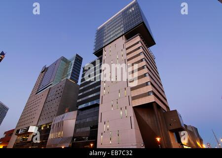 Diagonal Mar, hotels, shopping centre and business centers. Barcelona. - Stock Photo