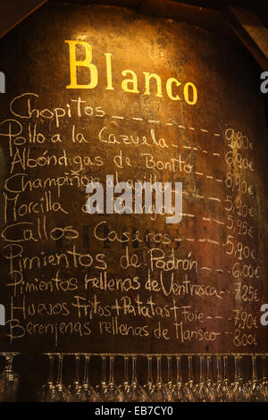 Tapas in Bodegas Mazon, Santander, Cantabria, Spain - Stock Photo