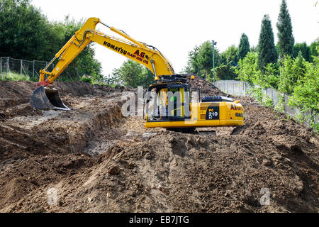 A Komatsu PC210LC-10 Hydraulic Excavator - Stock Photo