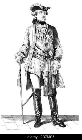 Leopold II, 1747 - 1792, born Peter Leopold Joseph Anton Joachim Pius Gotthard, Holy Roman Emperor and King of Hungary - Stock Photo