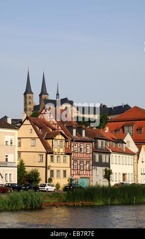 Look at Little Venice in Bamberg and Michael Berg - Stock Photo