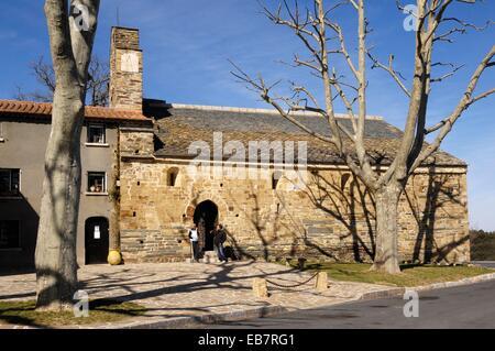 La Trinite church, Bellpuig et Prunet, Languedoc Roussillon, Pyrennes Orientales,France - Stock Photo