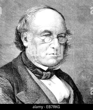 Sir Rowland Hill, 1795 - 1879, an English teacher, inventor and social reformer, reformer of the postal system, - Stock Photo