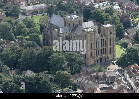 An aerial view of Ripon Cathedral, North Yorkshire