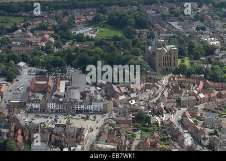 An aerial view of the centre of Ripon, a city in North Yorkshire