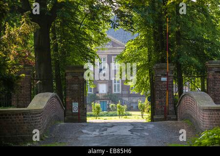 The historic Haus Steinfurt in Drensteinfurt, North Rhine-Westphalia, Germany, Europe - Stock Photo