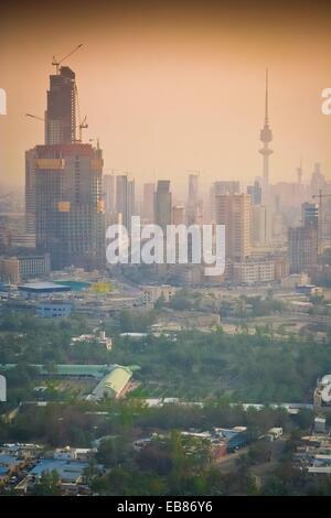 Kuwait city, Arial view - Stock Photo