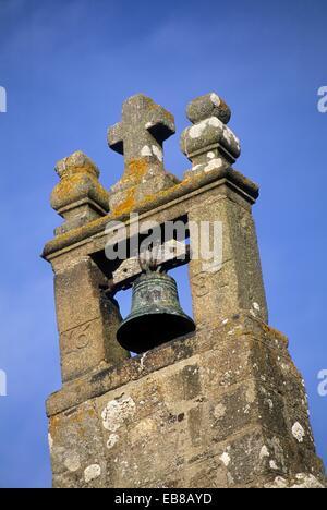 ridge turret of the chapel Sainte-Anne, , Mont-Saint-Michel bay, Manche department, Normandy region, France, Europe - Stock Photo