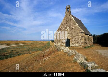 chapel Sainte-Anne, , Mont-Saint-Michel bay, Manche department, Normandy region, France, Europe - Stock Photo