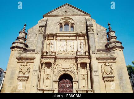 Facade of El Salvador church. Ubeda, Jaen province, Andalucia, Spain. - Stock Photo