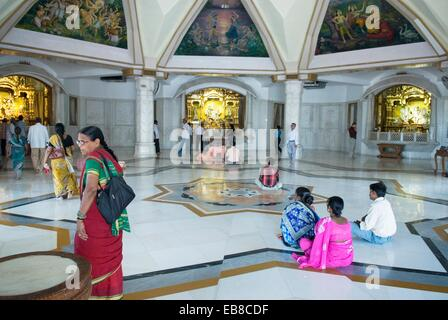 ISKCON Temple, Delhi, India, Asia - Stock Photo