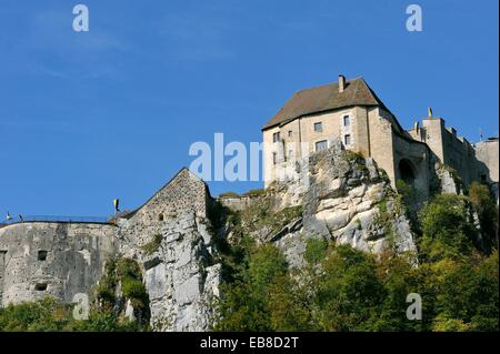 france doubs la cluse et mijoux the castle of joux the dungeon of stock photo royalty free. Black Bedroom Furniture Sets. Home Design Ideas