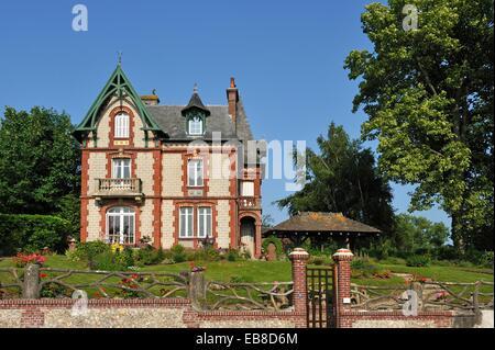 manoir,Le Breuil-en-Auge,Pays d'Auge,departement du Calvados,region Basse-Normandie,France,Europe/manor,Le Breuil - Stock Photo