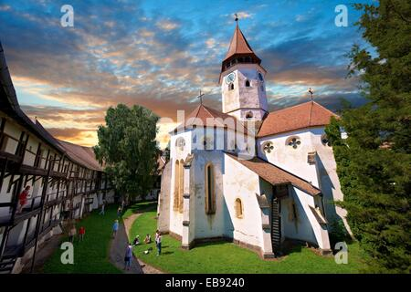 Prejmer  German: Tartlau Fortified Church one the best preserved its kind in Eastern Europe was built by the Teutonic - Stock Photo