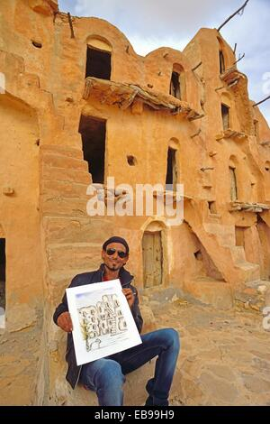 Ksar Ouled Soltane, Tataouine Province, Tunesia - Stock Photo