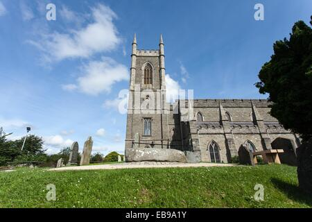 Down Cathedral Downpatrick County Down is a Church of Ireland cathedral  It stands on the site of a Benedictine - Stock Photo