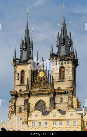 One Of The Prague Symbols Church Of Our Lady Of Tyn Old Gothic